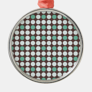 dots pattern background abstract texture circle ro Silver-Colored round ornament