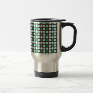 dots pattern background abstract texture circle ro travel mug