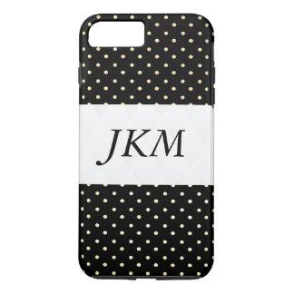 Dots pattern chic / stylish / initials iPhone 7 plus case