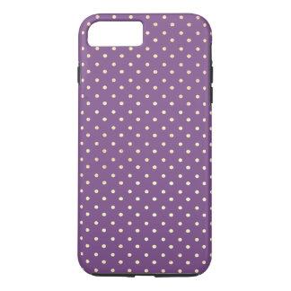 Dots pattern chic / stylish / purple iPhone 7 plus case