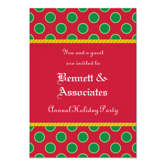 Dots Pattern Holiday Party Invitation