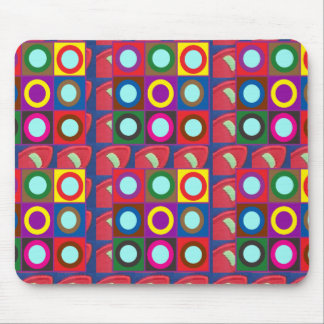 Dots Rounds n Circles  Template DIY add text photo Mouse Pad