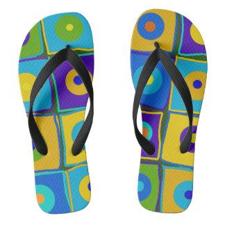 Dots & Squares Flip Flops