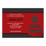 Dots Sweet Quinceanera Personalized Invite