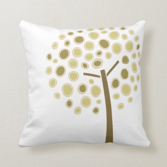 Dots Tree Throw Pillow