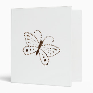 Dotted Butterfly Binder
