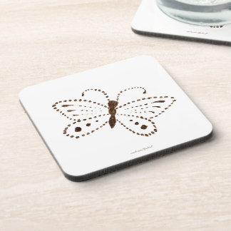 Dotted Butterfly Hard Plastic Coasters