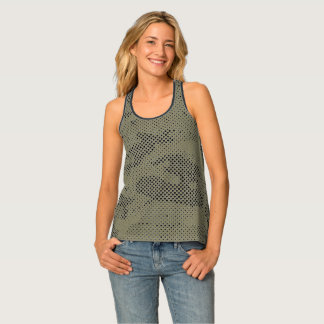 Dotted Camouflage Tank Top