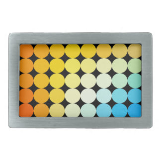Dotted colorful background rectangular belt buckles