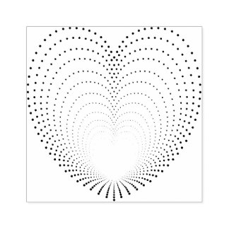 Dotted Heart Echoes Rubber Stamp