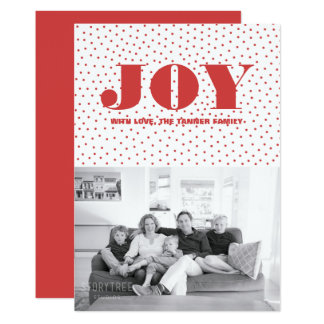 Dotted Joy Holiday Photo Card | Red
