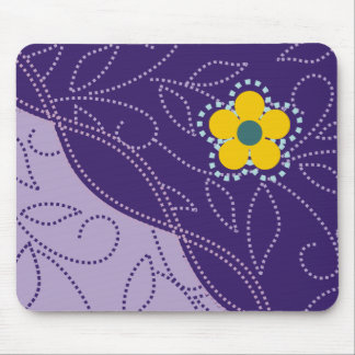 Dotted Leaves And Flower Mousepads
