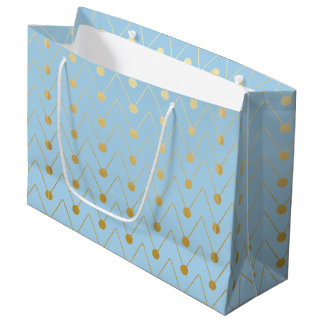 Dotted Pattern Faux Gold Foil Geometric Gift Bag