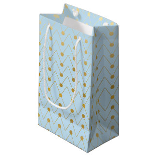 Dotted Pattern Faux Gold Foil Geometric Gift Bags