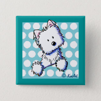 Dotted Pocket Westie Pin