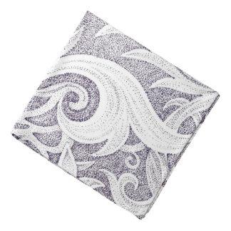 Dotted Purple Swirls Bandana