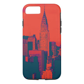 Dotted Red Retro Style Pop Art New York City iPhone 8/7 Case