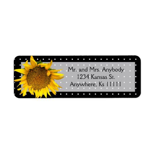 Dotted Sunflower Return Address Label