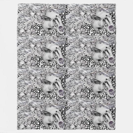 Dotted woman Fleece Blanket