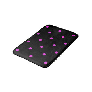 """Dottie"" Black-Hot Pink Polka Dots-REVIS-Sm Rug"
