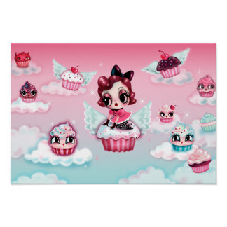 Dottie in Cupcake Heaven Poster