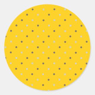 Dottie - Yellow Round Sticker