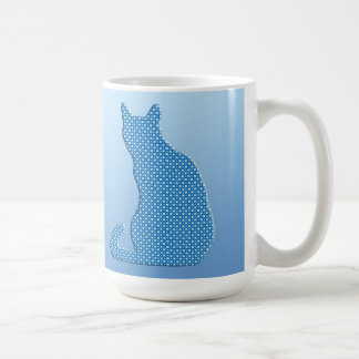Dotty Cat - shades of blue Coffee Mug
