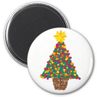 dotty christmas tree magnet