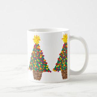dotty christmas tree mug