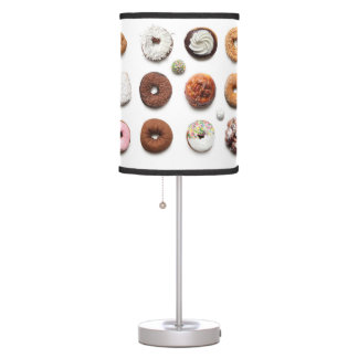 Dotty Donuts desk lamp (on white)