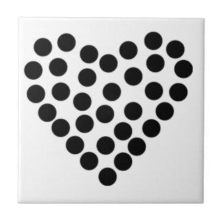 Dotty Heart Ceramic Tile