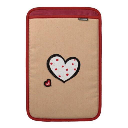 "Dotty Hearts kraft MacBook Air 11"" Sleeve Sleeve For MacBook Air"