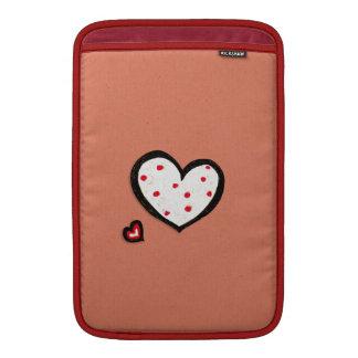 """Dotty Hearts kraft red MacBook Air 11"""" Sleeve MacBook Air Sleeve"""