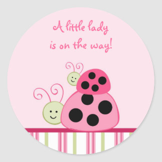 Dotty Ladybug Envelope Seals Stickers Toppers