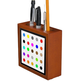 Dotty Modern Art Desk Organizer