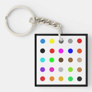Dotty Modern Art Keychain