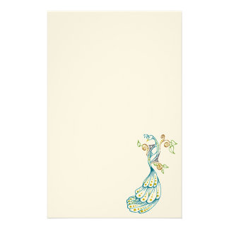 Dotty Peacock Color Stationary Stationery