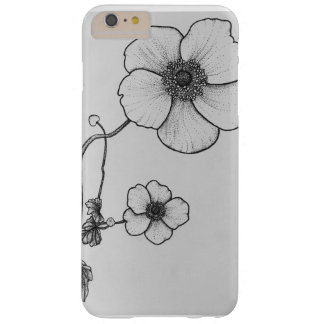 Dotwork Anemone Flower Phone Case