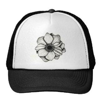Dotwork Flower Trucker Hat
