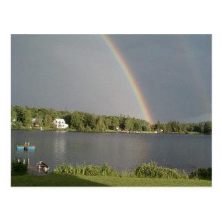Doubble Rainbow over Coles Pond Walden VT July 20 Postcard