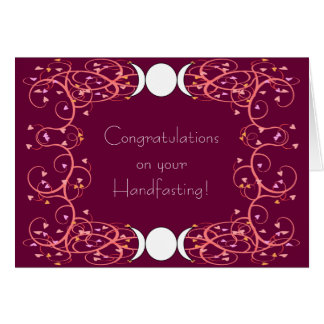 Double 3 in 1 Lesbian Wiccan Wedding Congrats Card