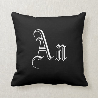 Double A Monogram in Black and White I Pillows