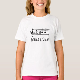 Double A Sharp - Musical Symbols T-Shirt