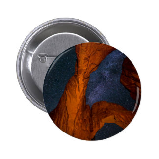 Double Arch And The Milky Way - Utah 2 Inch Round Button
