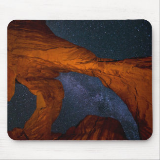 Double Arch And The Milky Way - Utah Mouse Pad