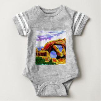 Double Arch Landscape Painting Baby Bodysuit