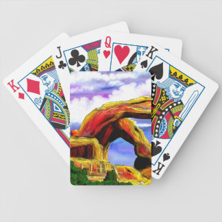 Double Arch Landscape Painting Bicycle Playing Cards