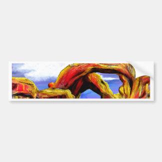 Double Arch Landscape Painting Bumper Sticker