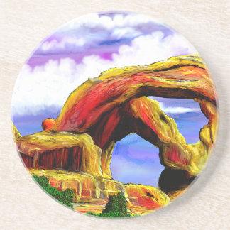 Double Arch Landscape Painting Coaster
