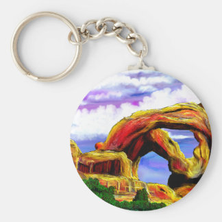 Double Arch Landscape Painting Keychain